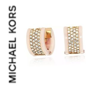 Michael Kors snap closure earrings